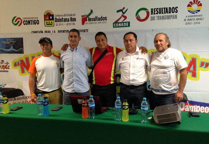 En conferencia de prensa se dieron a conocer los tres eventos deportivos que se realizarán en Cancún para recaudar fondos. (Redacción/SIPSE)