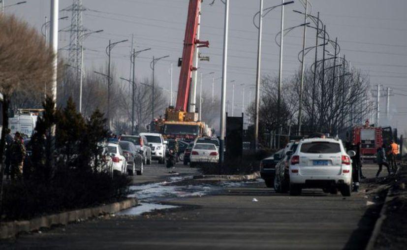 La planta en la que se produjo la explosión se encuentra a unas decenas de kilómetros del lugar de las competiciones. (© AFP FRED DUFOUR)