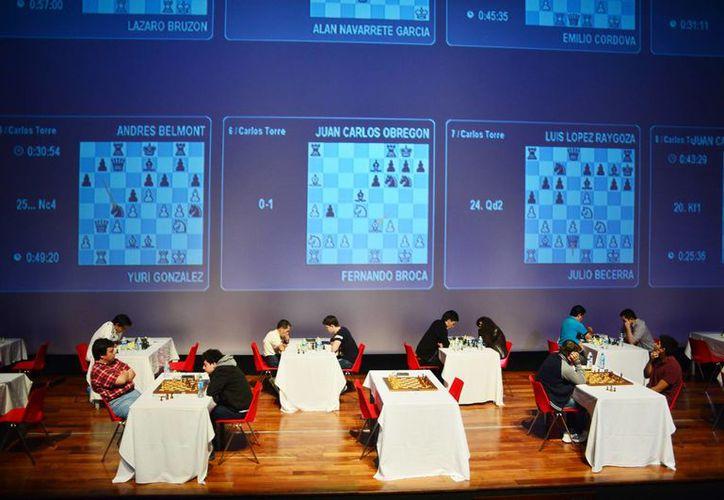 Imagen del inicio del Torneo Internacional  de Ajedrez 'GM Carlos Torre Repetto In Memoriam', en el Gran Museo del Mundo Maya. (Milenio Novedades)