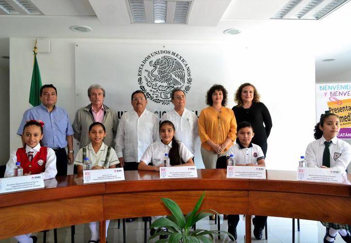 Los cinco pequeños representarán a la niñez yucateca en el Décimo Parlamento de las Niñas y los Niños de México. (Milenio Novedades)