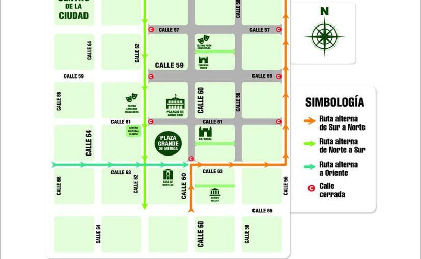 Las calles que se van a cerrar este lunes.
