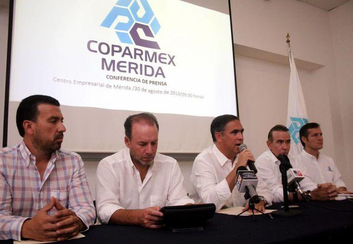 Integrantes de la Confederación Patronal de la República Mexicana (Coparmex). (Milenio Novedades)