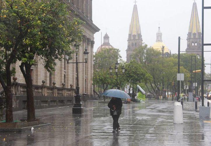 En Guadalajara, el huracán Patricia ha causado intensas precipitaciones. (Notimex)