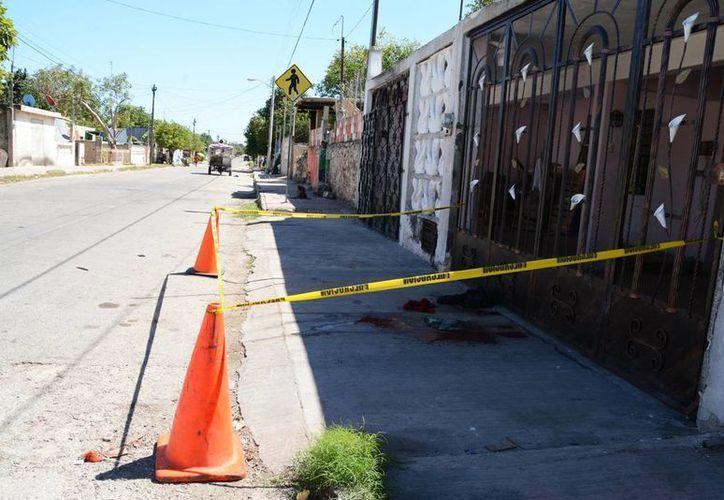 Los hechos se presentaron esta mañana en la calle 129 de la colonia San José Tecoh de Mérida. (SIPSE)