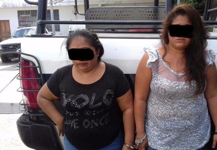 Las sospechosas fueron puestas a disposición de las autoridades correspondientes. (Redacción)