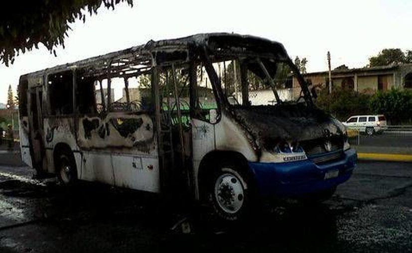 Tras la detención de 'El Junior' fueron incendiadas unidades de transporte público del municipio de Zapopan. (Milenio)