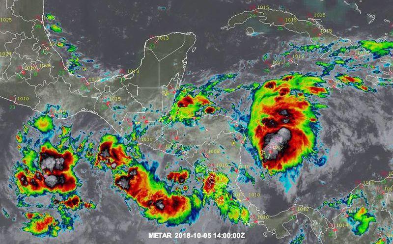 Depresión Tropical 14 provocará tormentas intensas al sur del país