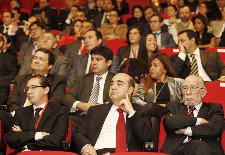 El procurador general de la República, Jesús Murillo Karam, en la ceremonia inaugural de la XVIII Conferencia de Ministros de Justicia de los Países Iberoamericanos (Comjib), en el puerto de Valparaíso, Chile. (Notimex)