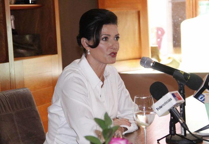 Gaby Vargas durante su presentación en la Filey. (Juan Albornoz/SIPSE)