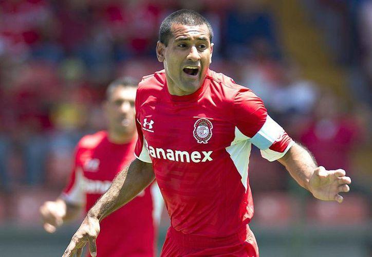 Paulo da Silva puso adelante al Toluca, pero Santos empató dos veces para dejar el marcador final 2-2 en la jornada 6 de la Liga MX. (record.com.mx/Foto de archivo)