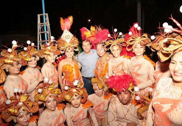 Previo al inicio del Carnaval de Mérida, programado para este jueves 22, este sábado se llevó a cabo un concurso de comparsas en la colonia Alemán. (Foto cortesía del Ayuntamiento)