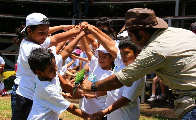 EL programa de conexión con la naturaleza va dirigido a niños de escuelas de Solidaridad. (Luis Ballesteros/SIPSE)