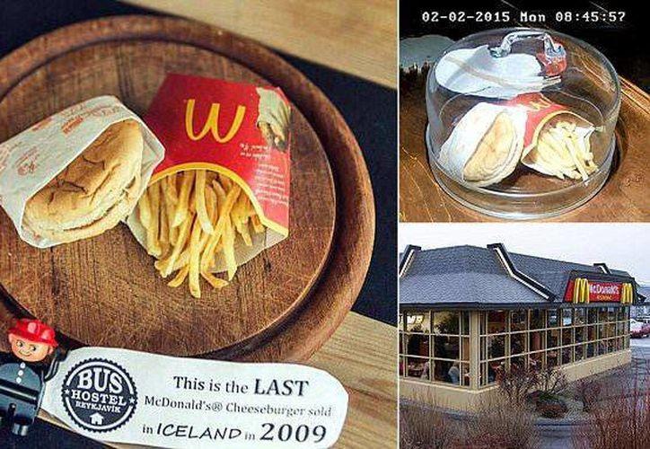La última Big Mac de McDonald's que se vendió en Islandia, en el Bus Hostel de Reykjavik. (webecoist.momtastic.com)