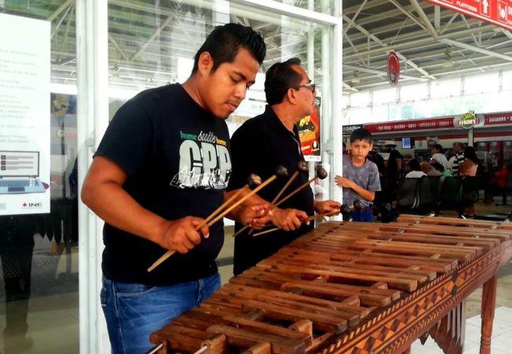 Los músicos recorren desde la zona urbana hasta la turística. (SIPSE)