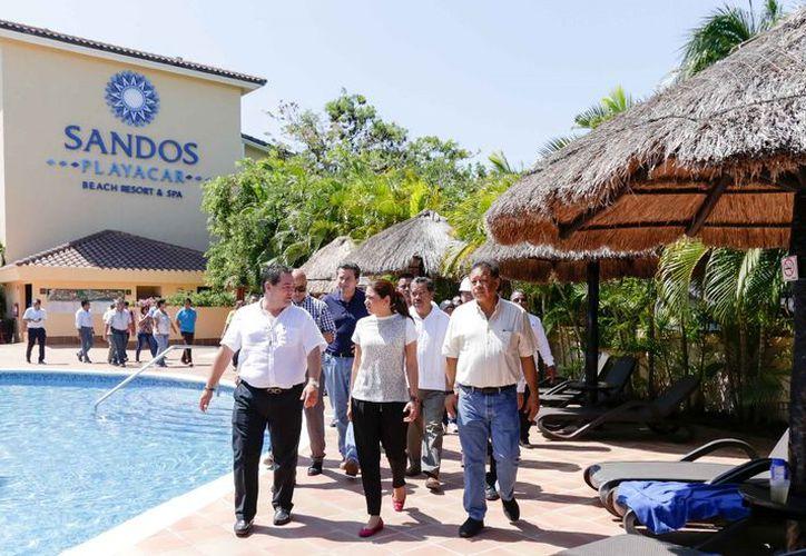 El recorrido concluyó en el hotel Sandos Playacar, que cuenta con un autorrefugio. (Foto: SIPSE)