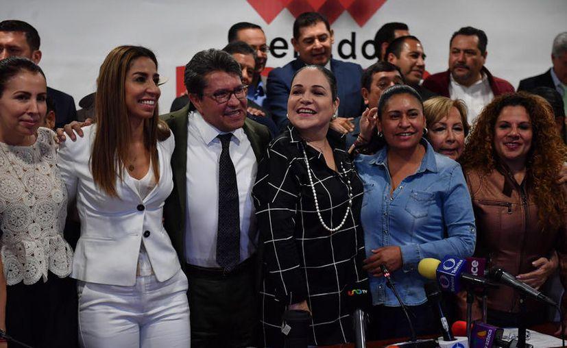 Con 33 votos a favor, la bancada de Morena en el Senado se pronunció en contra de la reelección de Martí Bartres (Foto: Reforma)