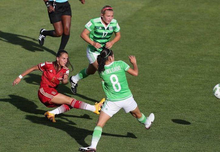 La Selección Femenil sub 17 de México empató a un gol con su similar de España, en el Mundial de Jordania. (miseleccion.com)