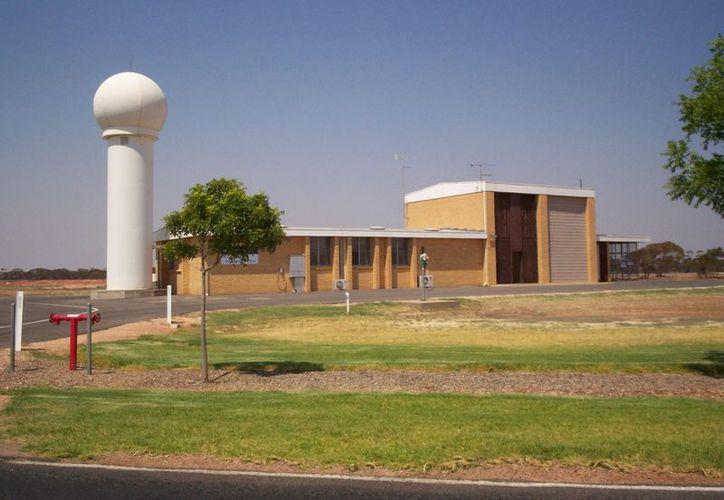 Imagen del radar meteorológico en el aeropuerto de Mildura, ciudad que los mapas de Apple no ubican correctamente. (wikipedia.org)