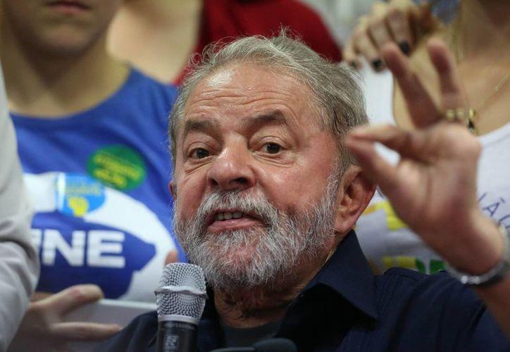 Fotografía del 4 de marzo de 2016 del expresidente brasileño Luiz Inácio Lula da Silva durante una rueda de prensa, en Sao Paulo. (EFE/Archivo)