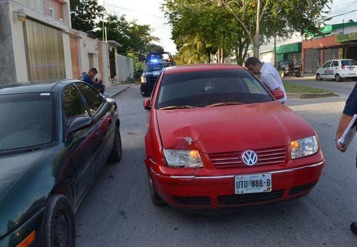 El vehículo fue trasladado al corralón. (Redacción/SIPSE)