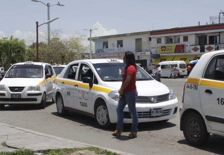 Mañana, unos 15 socios de la organización de taxistas tramitarán su licencia para seguir trabajando. (Harold Alcocer/SIPSE)
