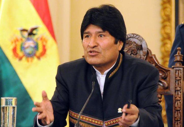 """""""Estamos preocupados, pero también ocupados expresando nuestra solidaridad al hermano pueblo y Gobierno de Venezuela"""", dijo el Presidente de Bolivia. (Agencias)"""