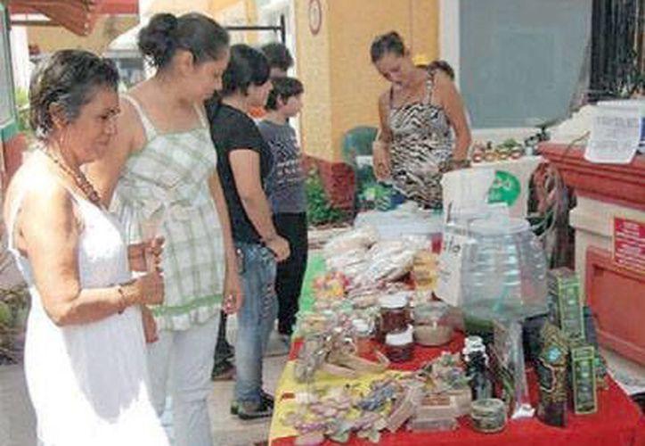 Cada último domingo de cada mes, en un horario de 10 a 16 horas, el Ecotianguis ofrece una variedad de productos orgánicos. (Redacción/SIPSE)