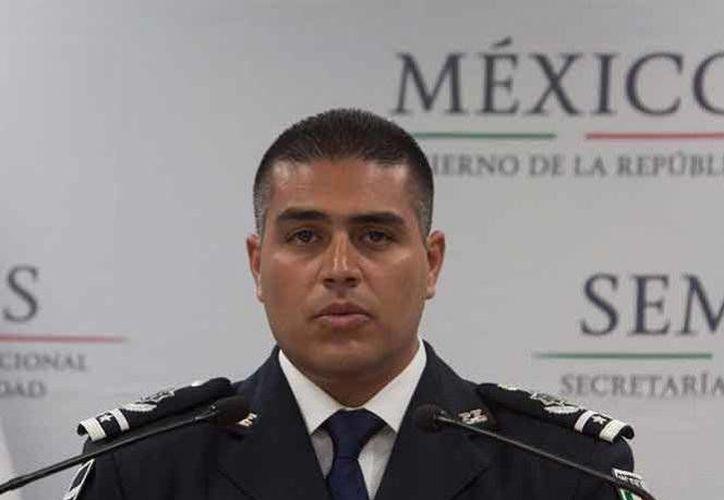El titular de la Agencia de Investigación Criminal de la Policía Federal, Omar Hamid García Harfuch, informó de la captura del líder del Cártel del Pacífico, Vicente 'N'. (Foto: PF)