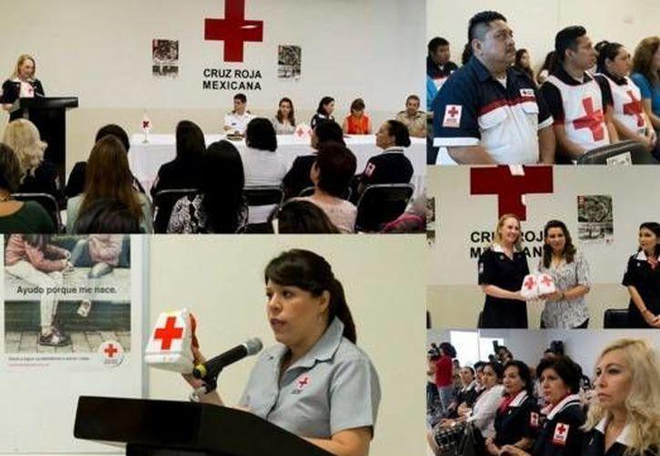 La Cruz Roja Mexicana recibió del DIF Yucatán material para la colecta 2016 que iniciará el 8 de marzo y terminará el 8 de mayo. (twitter.com/DIF_Yucatan)