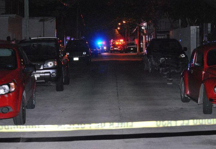 El lugar fue acordonado por la policía: (Foto: SIPSE)