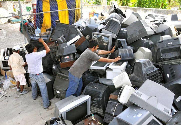 El CAMAR recuperó el año pasado nueve toneladas de electrodomésticos inservibles.  (Redacción/SIPSE)