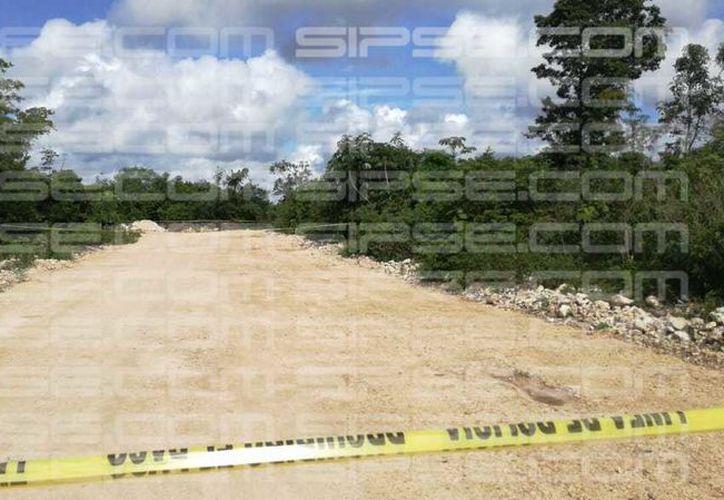 El cuerpo pertenece a un hombre joven, presuntamente trabajador de construcción. (Rubén Cruz/ SIPSE)