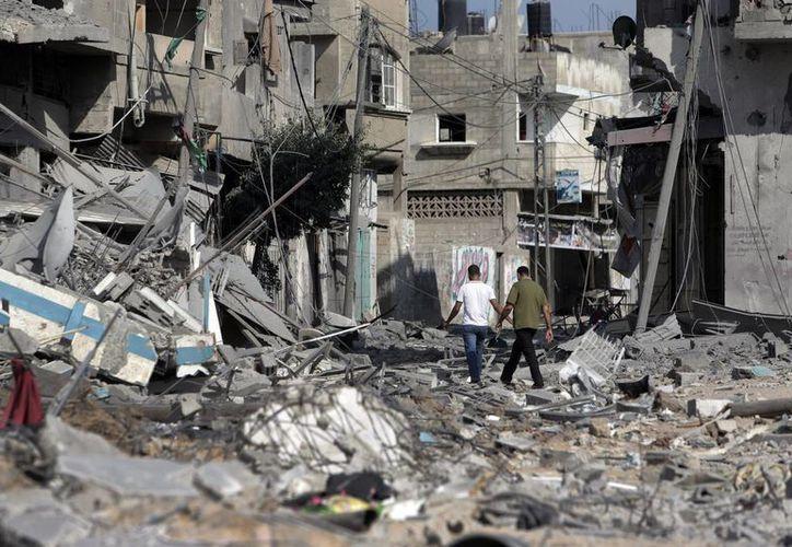 En los días que ha durado la tensión entre Israel y Palestina han muerto mil palestinos y 45 israelíes. (AP)
