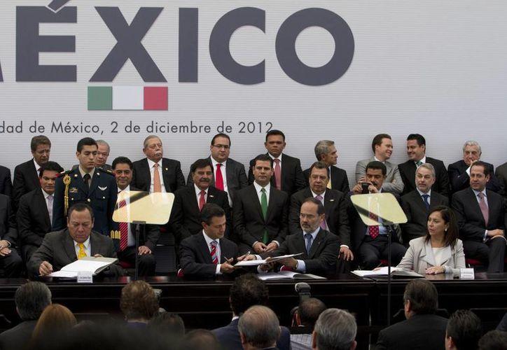 La vigencia del Pacto es responsabilidad del Ejecutivo, señalaron  PAN y PRD. (Archivo/Notimex)