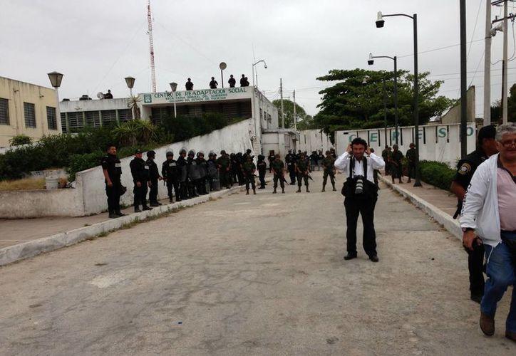 La anterior movilización a gran escala en el Cereso de Mérida se registró en febrero, durante una revisión en busca de drogas y armas. (SIPSE)