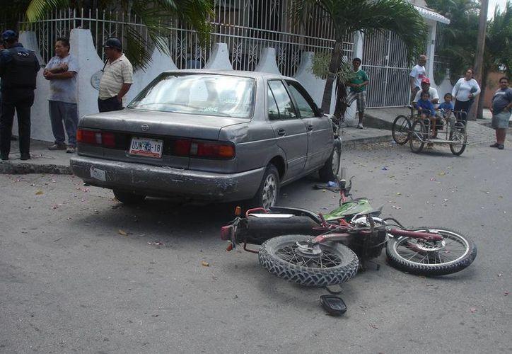 Los vehículos involucrados fueron trasladados al corralón.  (Redacción/SIPSE)