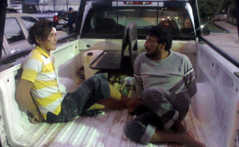 Los sujetos fueron detenidos en las inmediaciones de la colonia 5 de Abril de Chetumal. (Redacción/SIPSE)