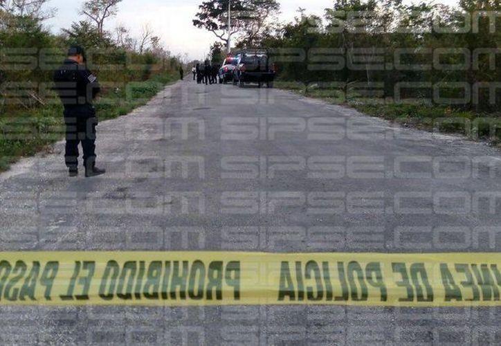 Personal de la policía Ministerial y Municipal se encuentran en la zona. (Foto: Enrique Castro/SIPSE)