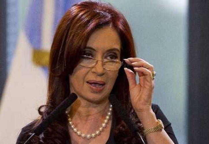 Presidenta Cristina Fernández. (Archivo AP)