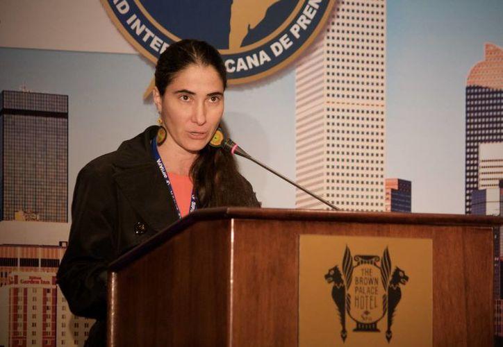 Yoani Sánchez denunció este miércoles que el Gobierno cubano bloqueó su nuevo periódico digital 14ymedio dentro de la isla. (EFE)