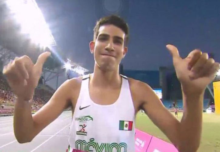Tonatiú López, mexicano ganador de oro en 800 metros planos en Taipéi 2017. (Foto: Vanguardia)
