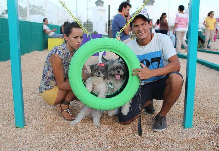 Ayer abrió sus puertas el Parque para Mascotas del Centro de Bienestar Animal (Cebian) en Playa del Carmen. (Yesenia Barradas/SIPSE)