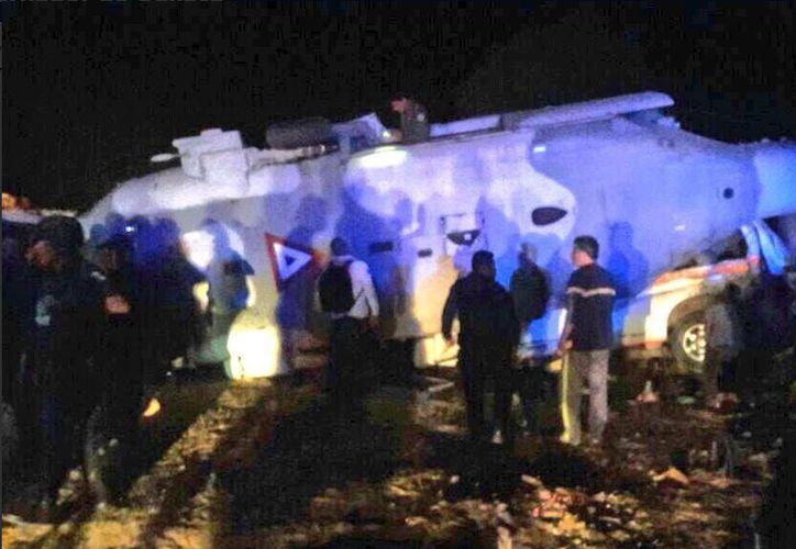 En el lugar murieron dos personas que se encontraban en tierra en el momento del accidente. (Foto: Twitter: Santiago Jamiltepec).
