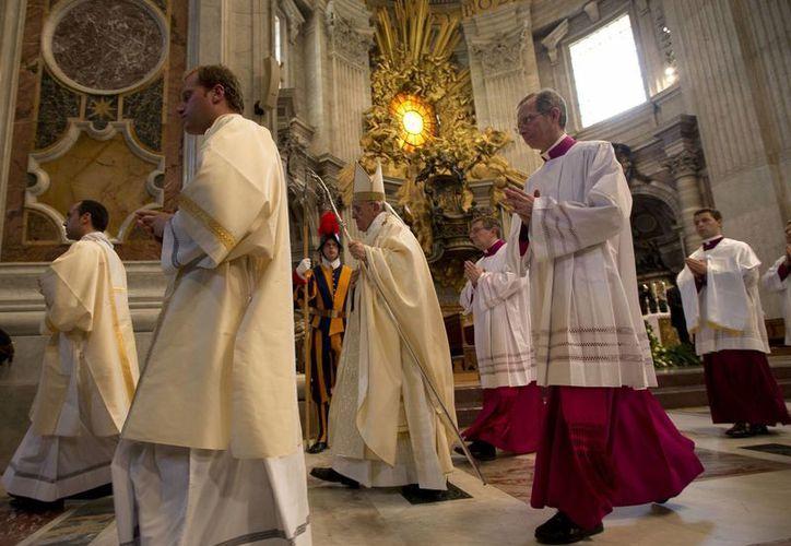 El papa Francisco celebró una misa para el inicio de la asamblea general de Caritas. (AP)