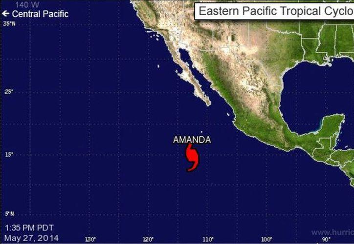 'Amanda' continúa afectando a cinco estados del Pacífico mexicano. (nhc.noaa.gov)
