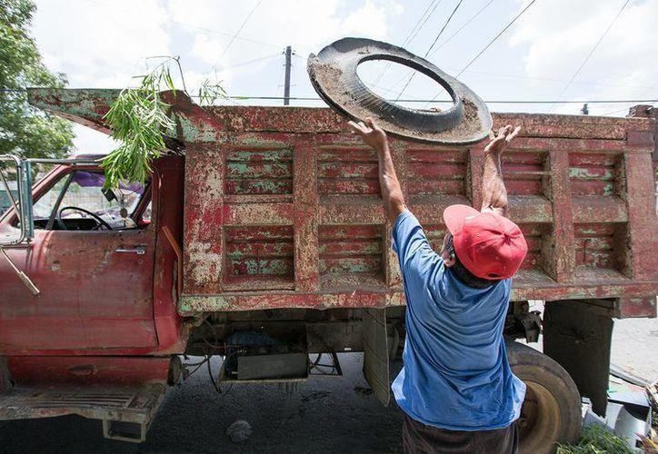 Este domingo concluyó en Mérida la campaña de descacharrización masiva. (SIPSE)