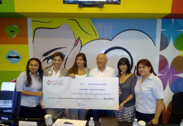 El dinero beneficiará a 20 infantes de  la Fundación  Jorge Alann. (Eric Galindo/SIPSE)