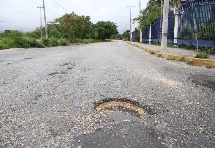 Realizan mantenimiento de las zonas afectadas. (Sergio Orozco/SIPSE)