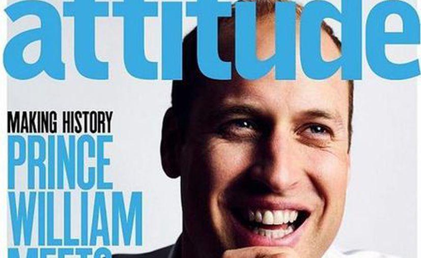 'Debes estar orgulloso de quien eres y no tener nada de qué avergonzarte', sentenció el príncipe Guillermo en una revista gay de Inglaterra. (Attitude)
