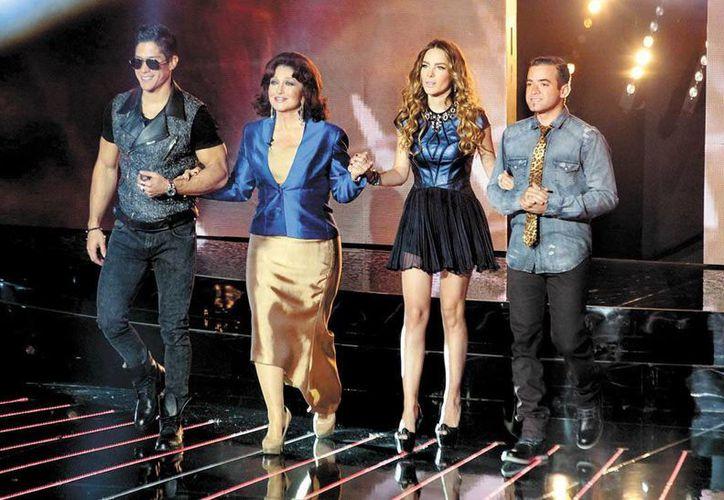 Nacho, Angélica María, Belinda y Chino son el jurado del show. (Milenio)